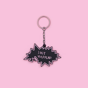 Sh*t happens Key Ring